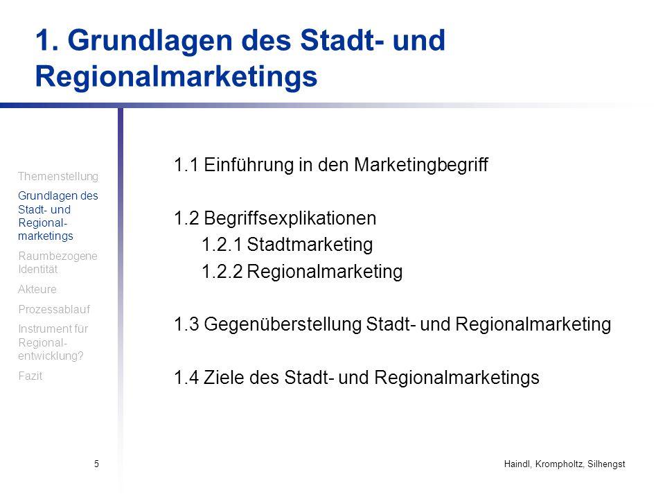 1. Grundlagen des Stadt- und Regionalmarketings