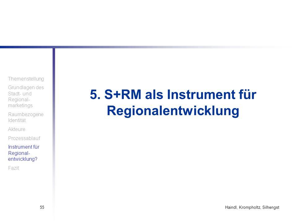 5. S+RM als Instrument für Regionalentwicklung