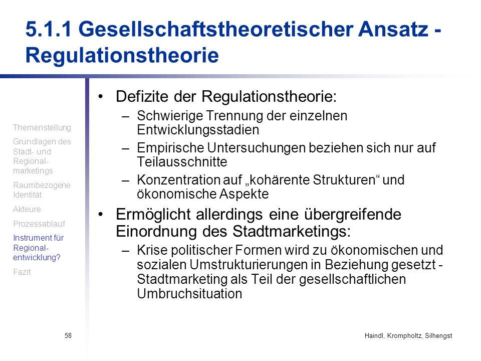 5.1.1 Gesellschaftstheoretischer Ansatz - Regulationstheorie