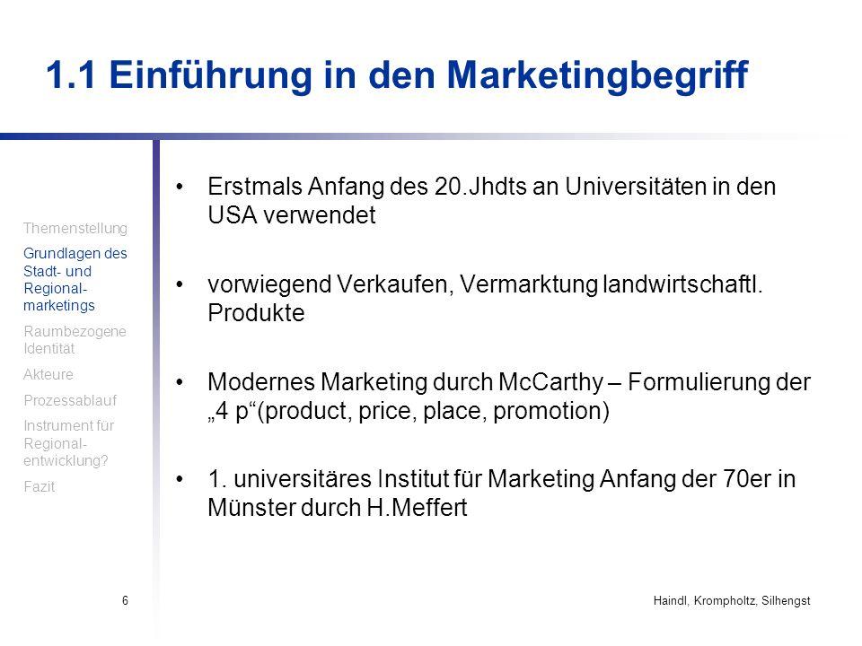 1.1 Einführung in den Marketingbegriff