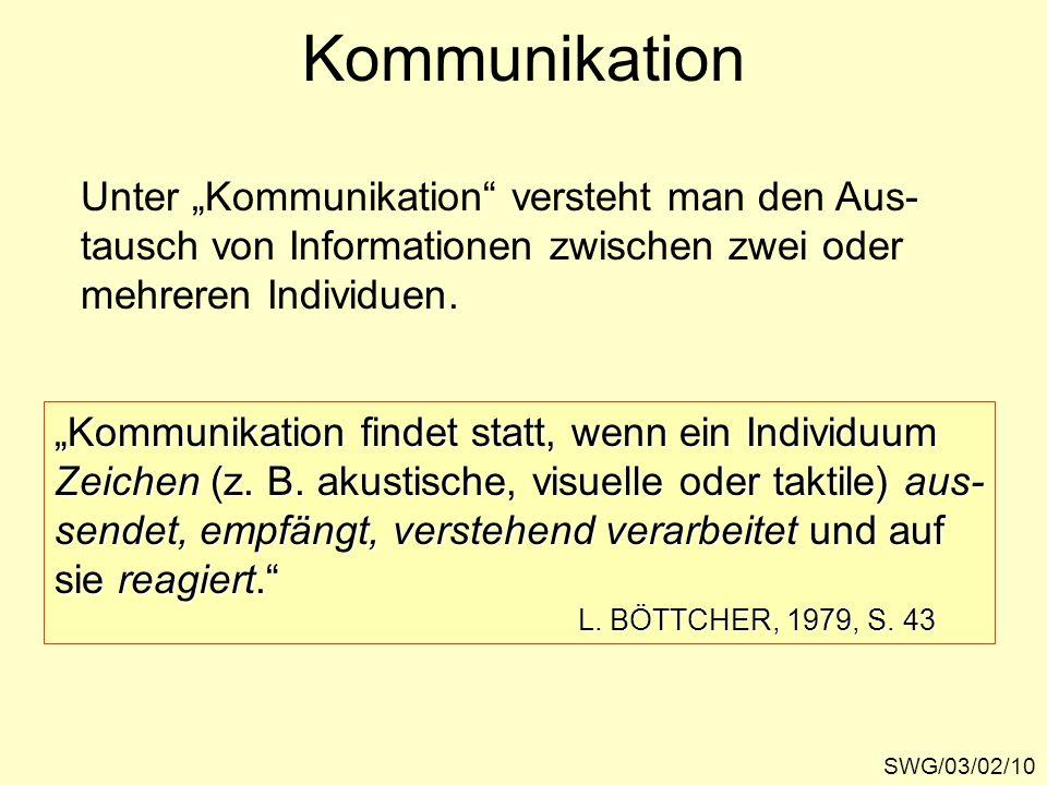 """Kommunikation Unter """"Kommunikation versteht man den Aus-"""