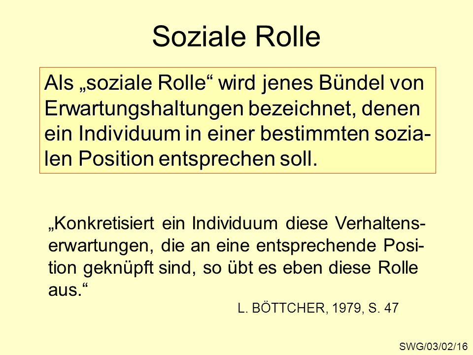 """Soziale Rolle Als """"soziale Rolle wird jenes Bündel von"""