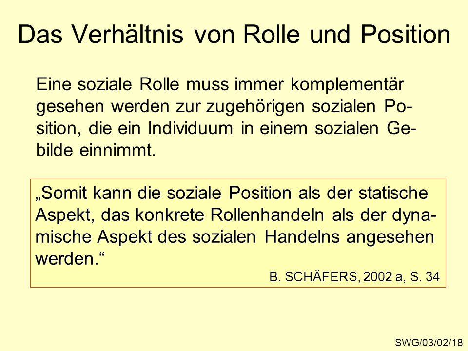 Das Verhältnis von Rolle und Position