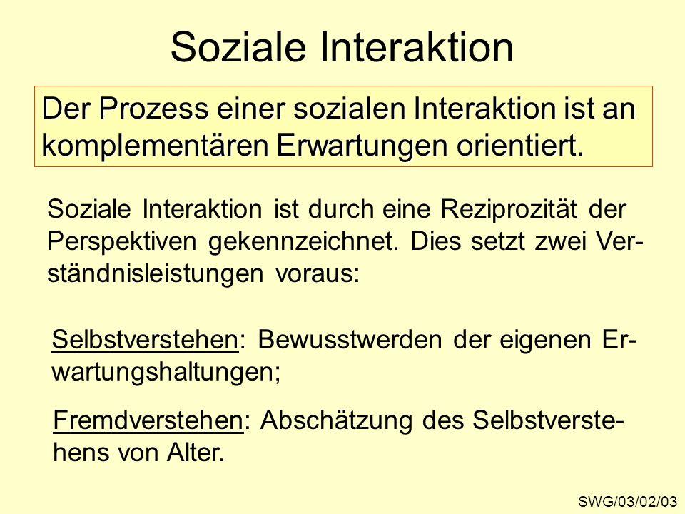 Soziale Interaktion Der Prozess einer sozialen Interaktion ist an
