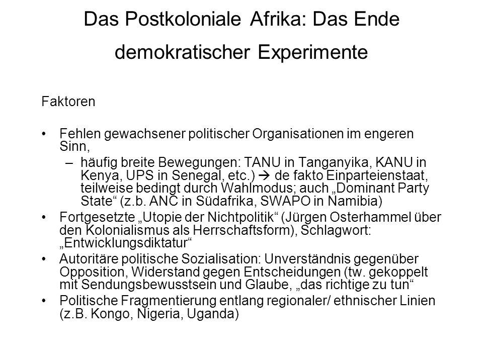Das Postkoloniale Afrika: Das Ende demokratischer Experimente