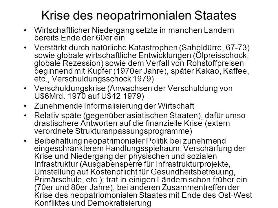 Krise des neopatrimonialen Staates