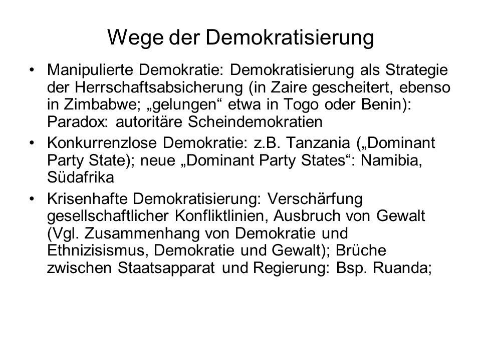 Wege der Demokratisierung