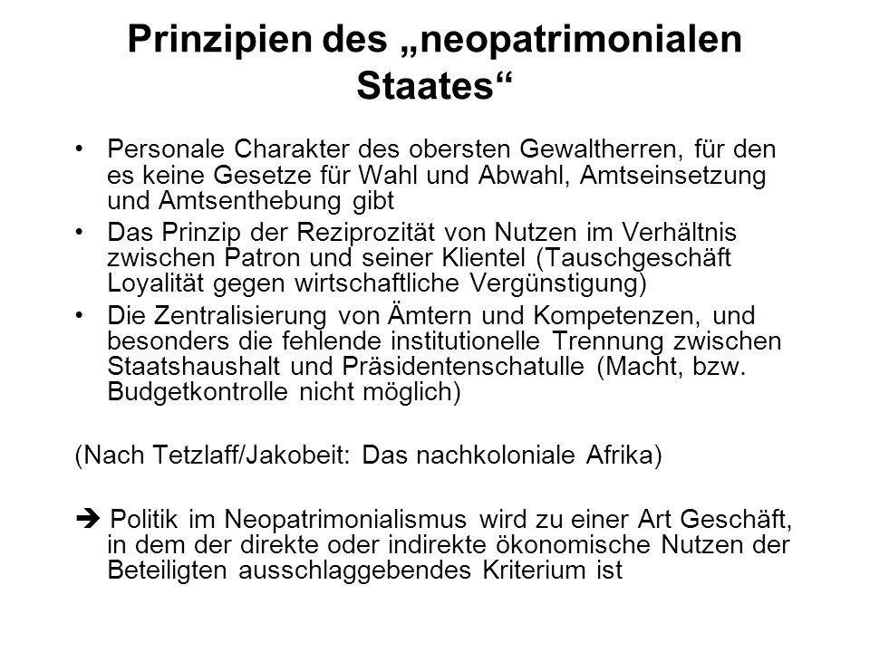 "Prinzipien des ""neopatrimonialen Staates"