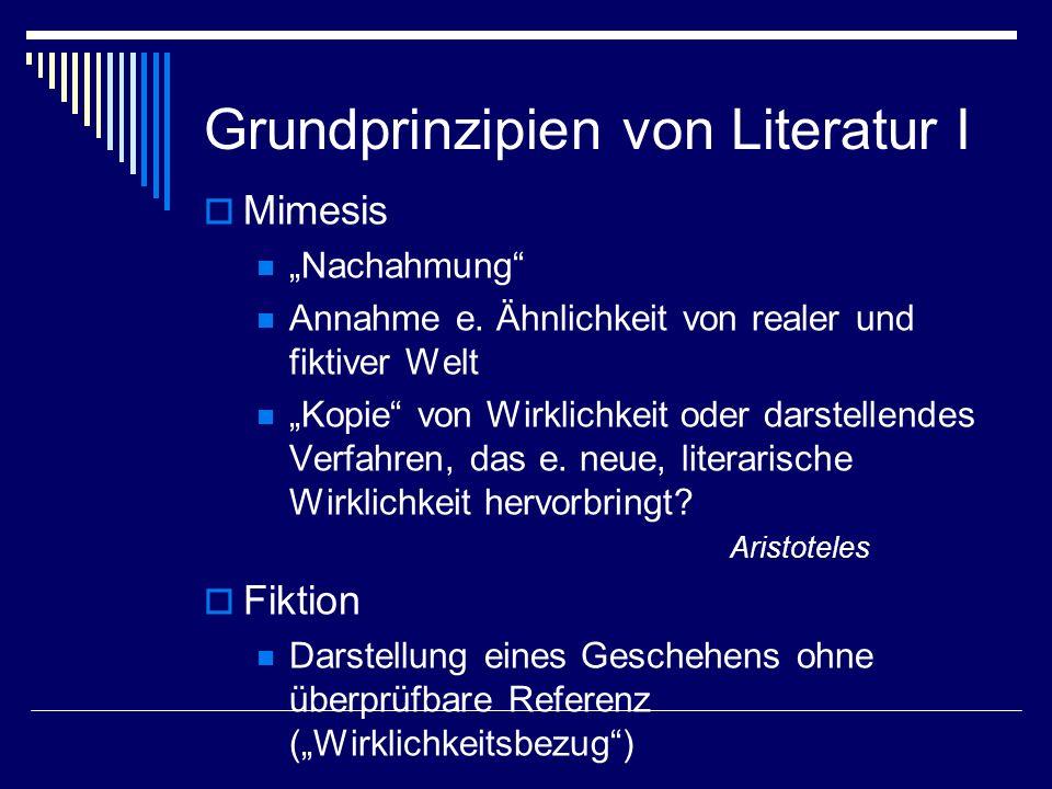Grundprinzipien von Literatur I
