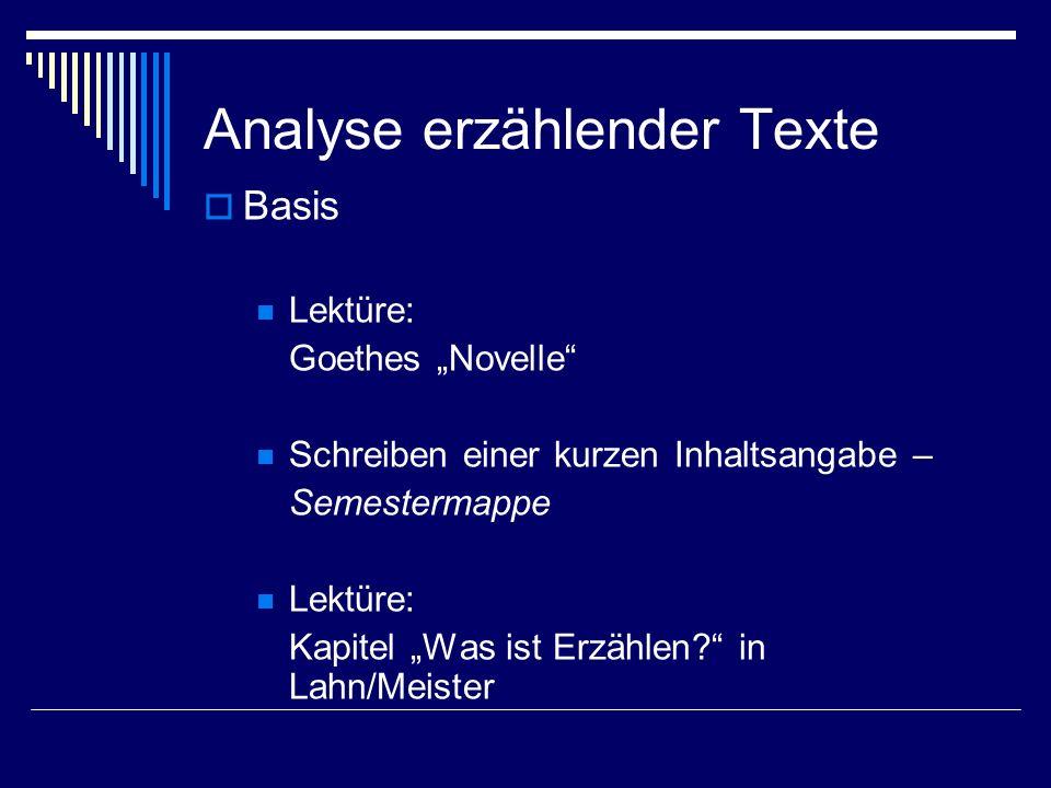 Analyse erzählender Texte