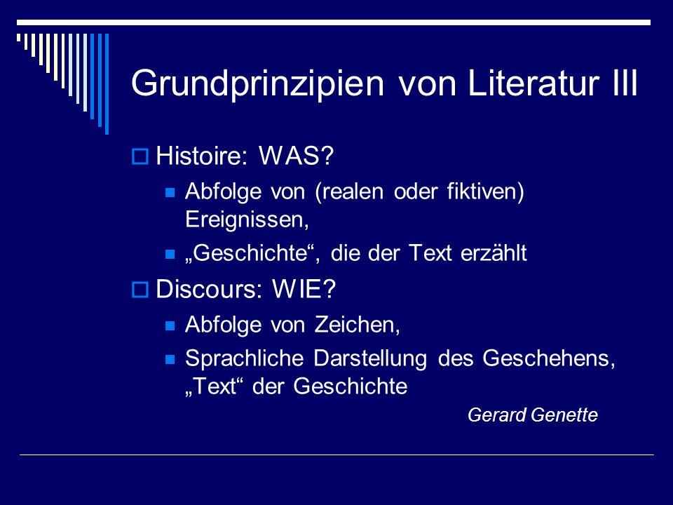 Grundprinzipien von Literatur III