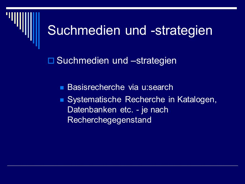 Suchmedien und -strategien