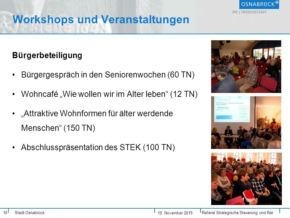 Workshops und Veranstaltungen