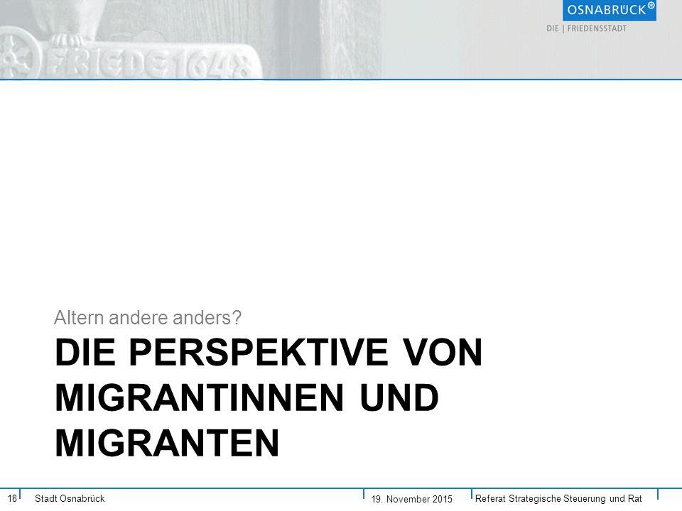 Die Perspektive von Migrantinnen und Migranten