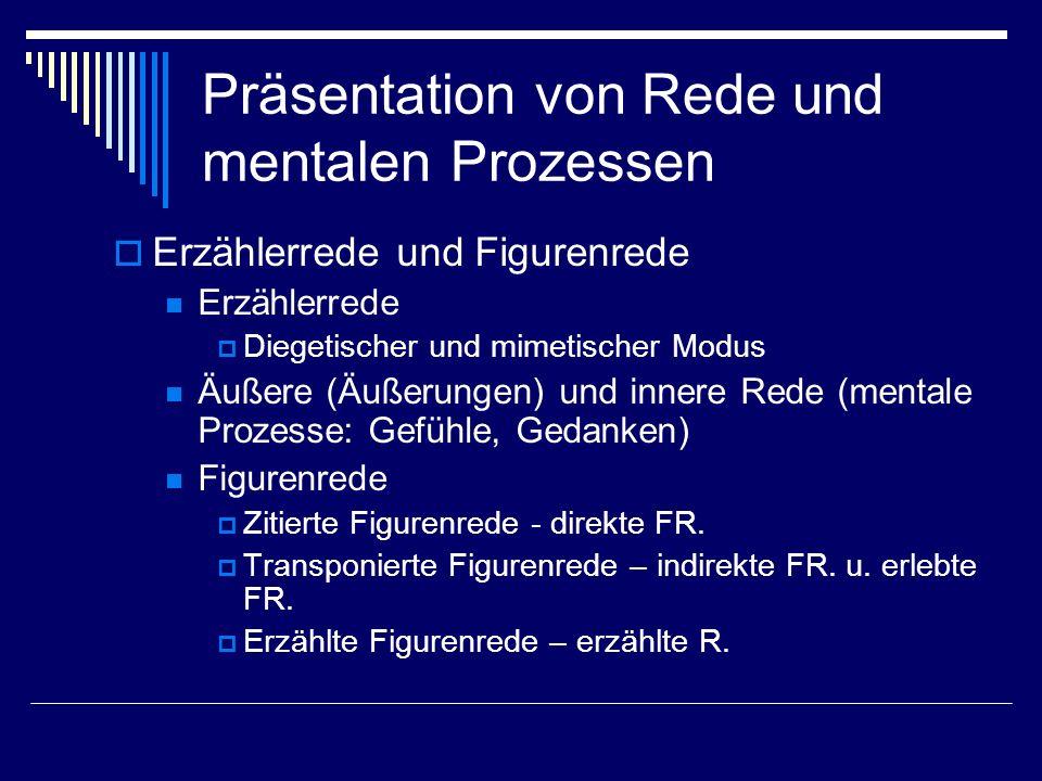 Präsentation von Rede und mentalen Prozessen