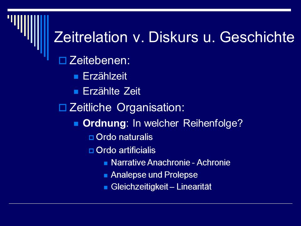 Zeitrelation v. Diskurs u. Geschichte