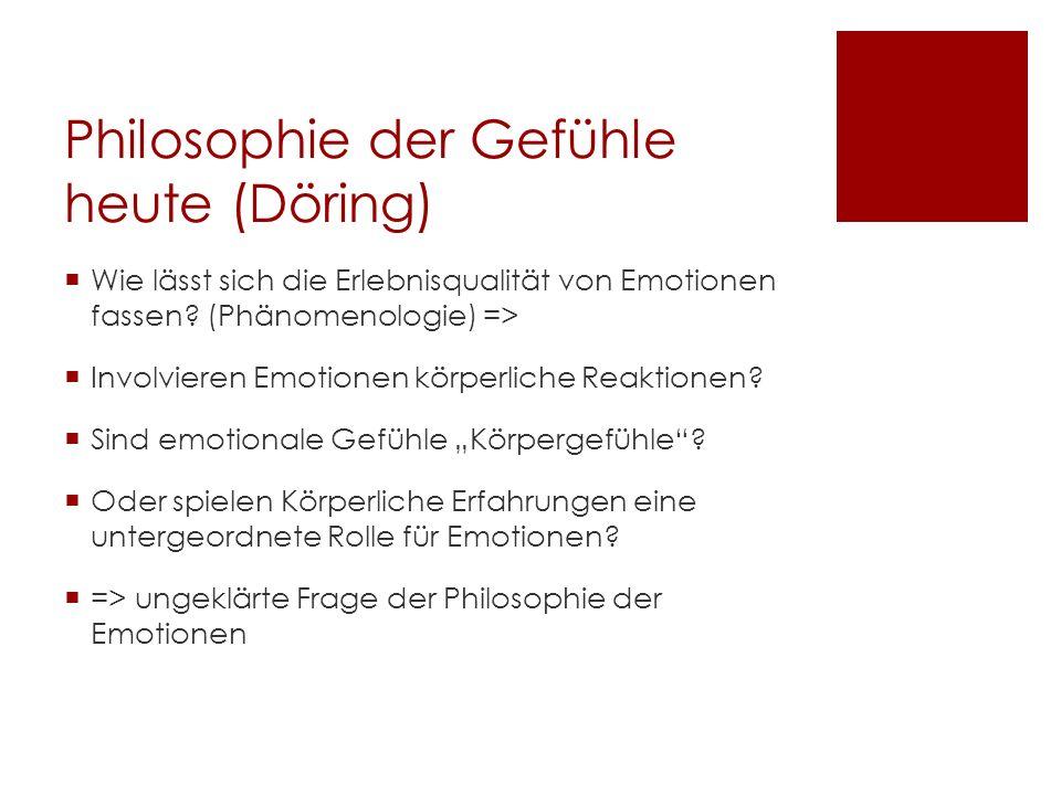 Philosophie der Gefühle heute (Döring)