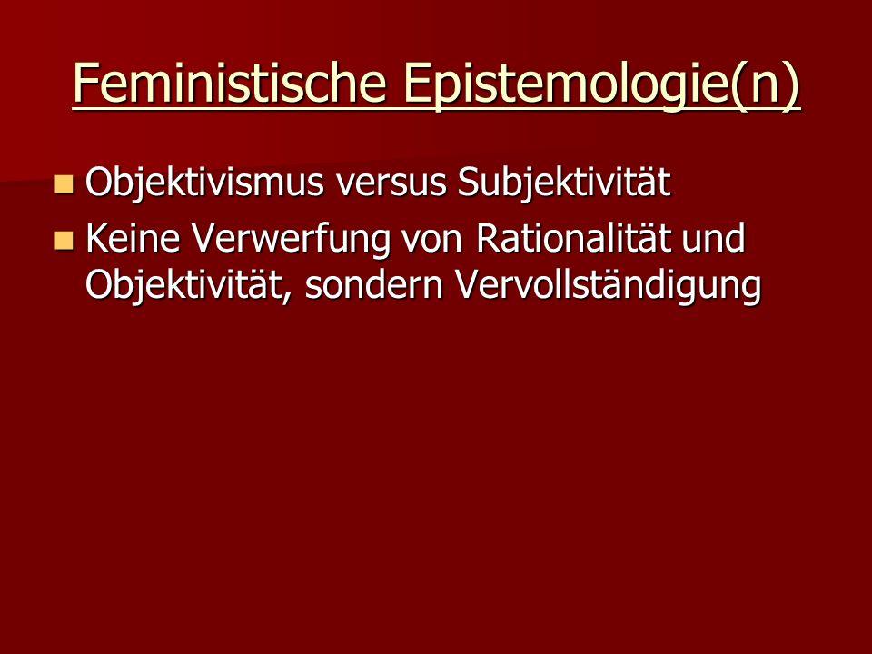 Feministische Epistemologie(n)