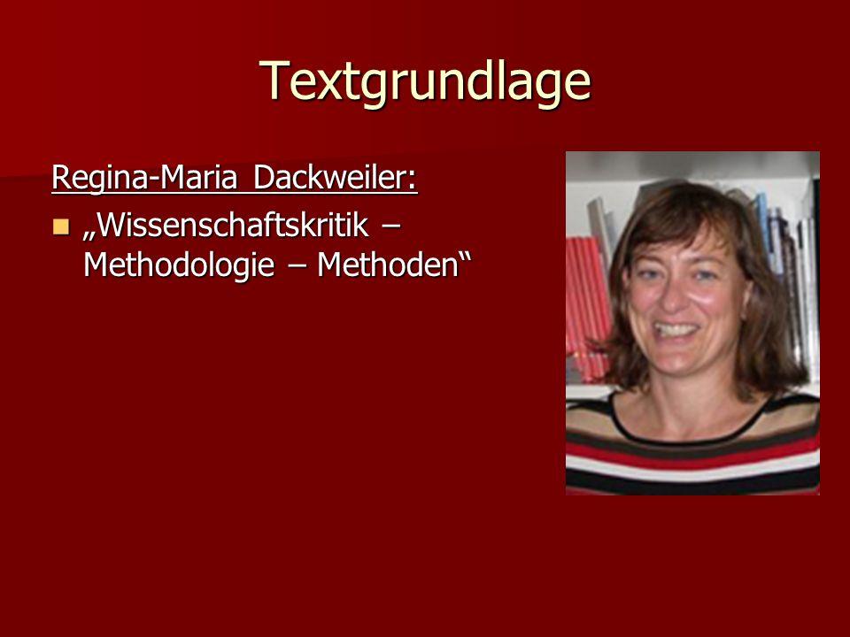 Textgrundlage Regina-Maria Dackweiler: