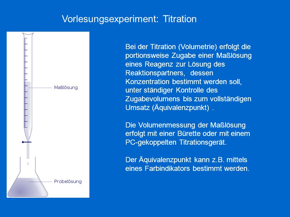 Vorlesungsexperiment: Titration
