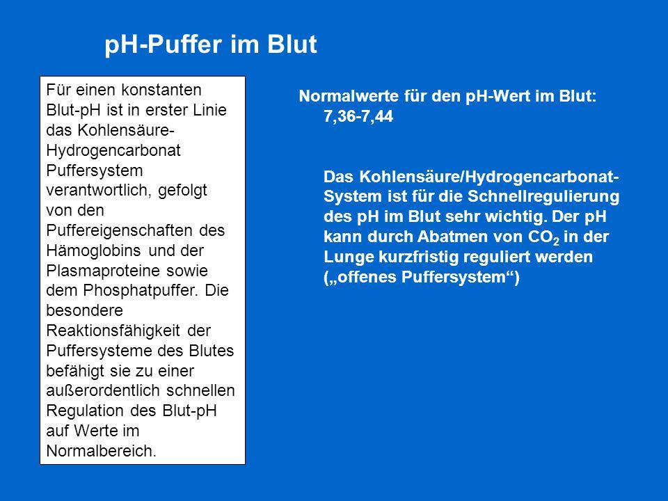 pH-Puffer im Blut
