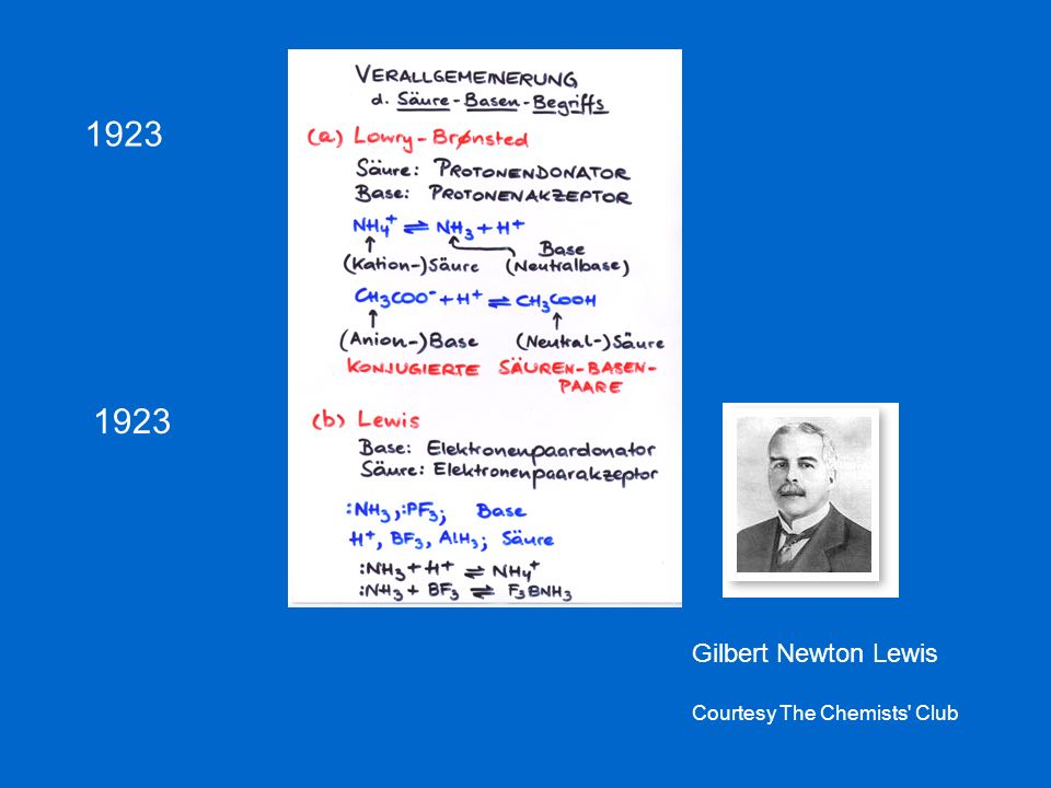 1923 1923 Gilbert Newton Lewis Courtesy The Chemists Club