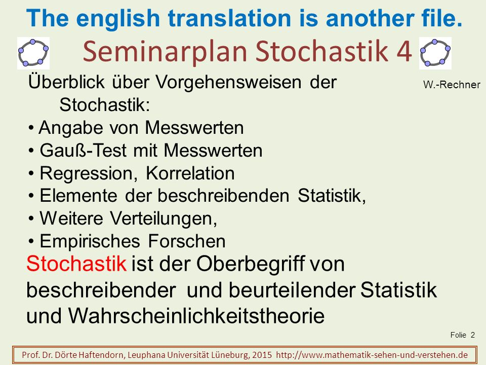 Seminarplan Stochastik 4
