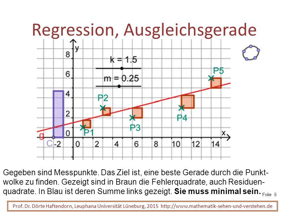 Regression, Ausgleichsgerade