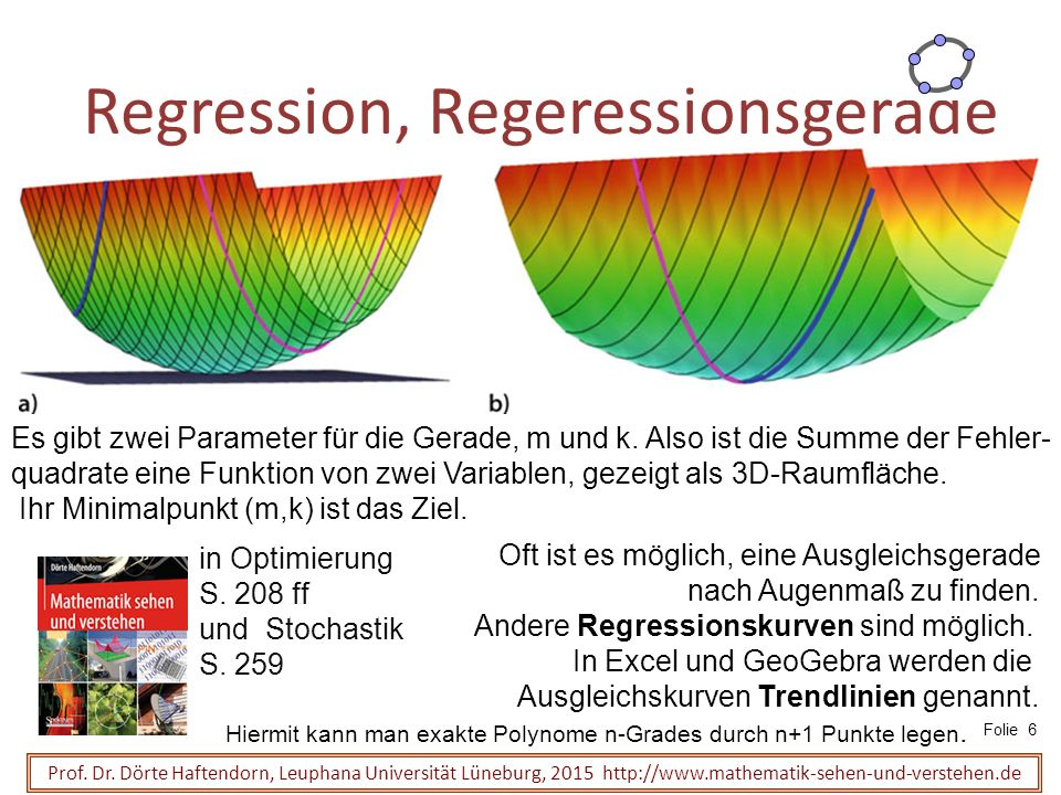 Regression, Regeressionsgerade