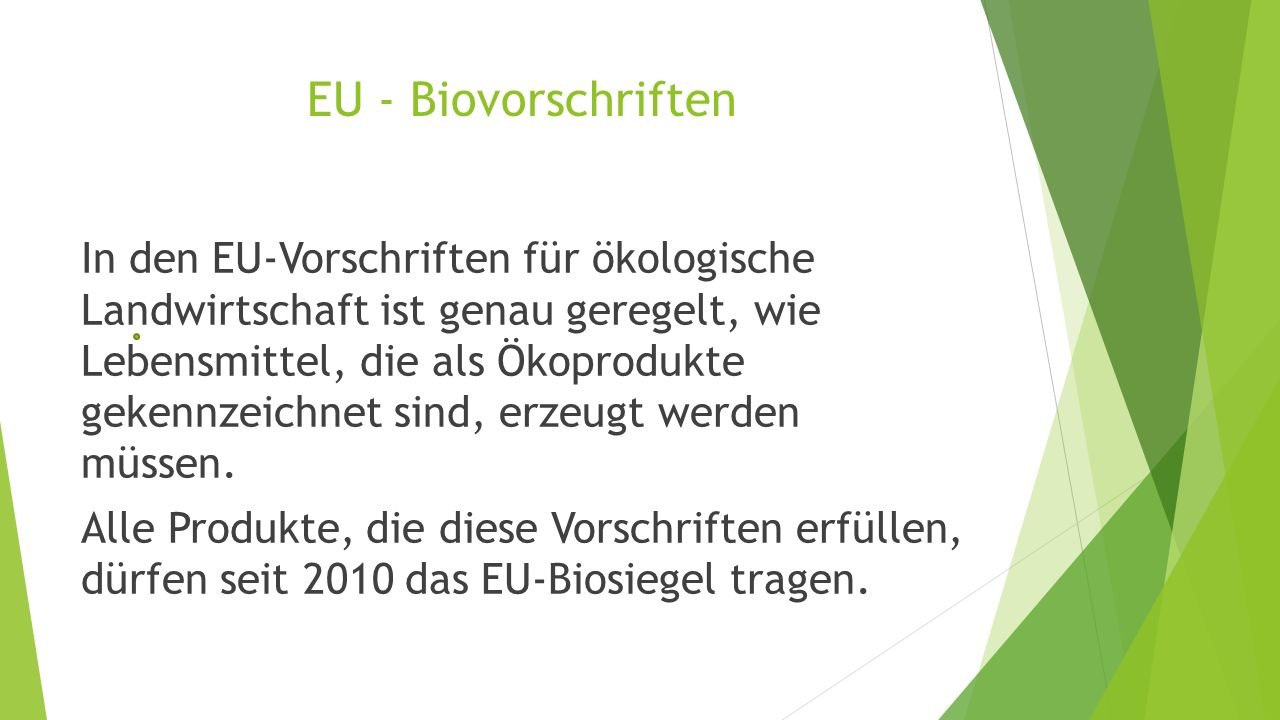 EU - Biovorschriften