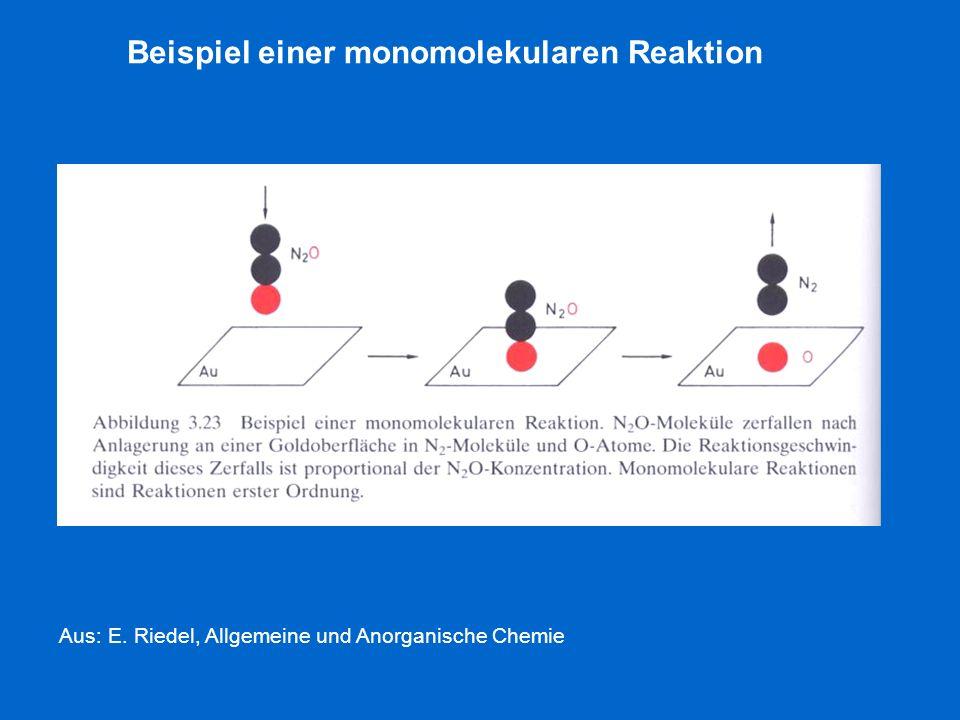 Beispiel einer monomolekularen Reaktion
