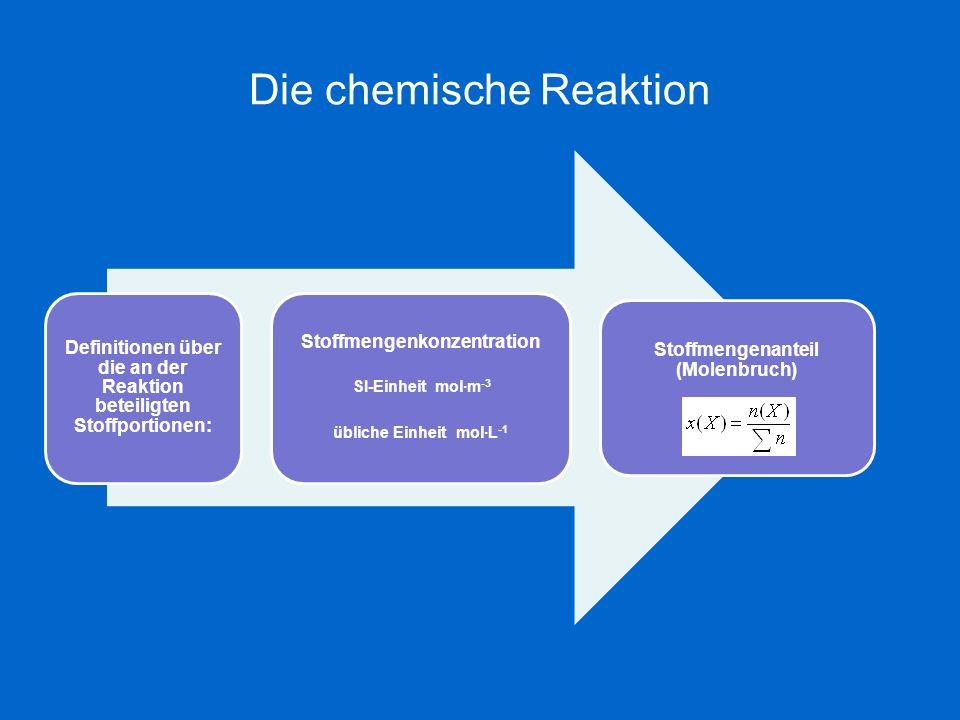 Die chemische Reaktion