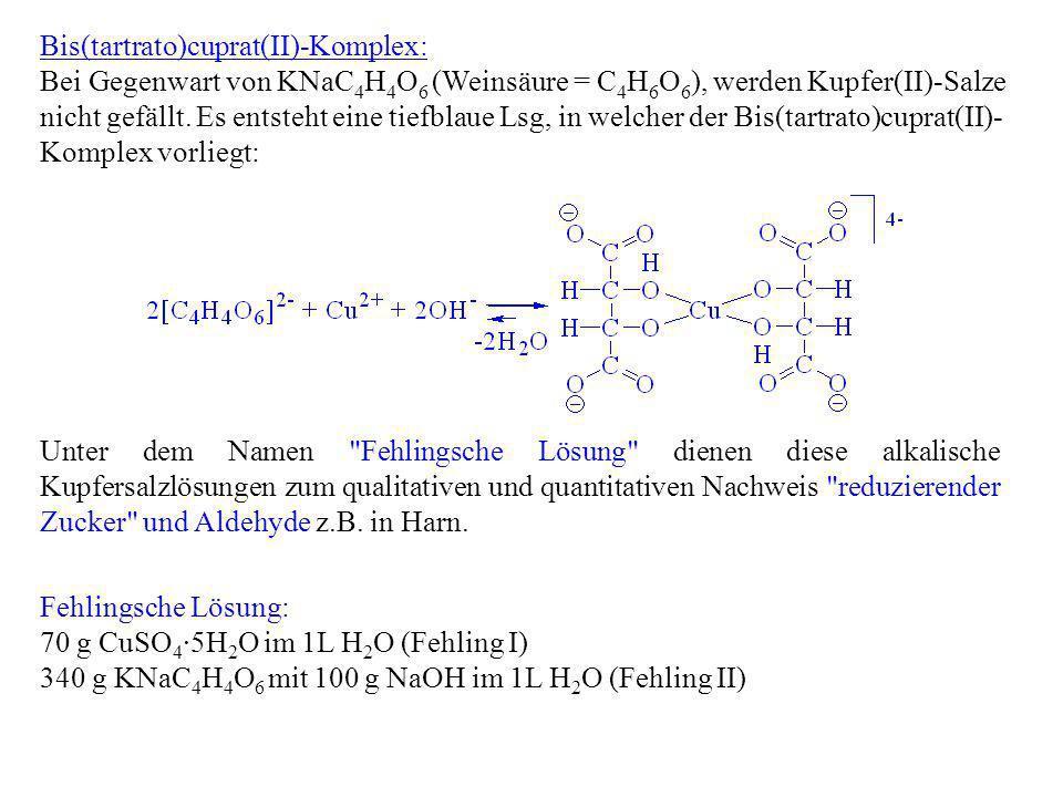Bis(tartrato)cuprat(II)-Komplex: