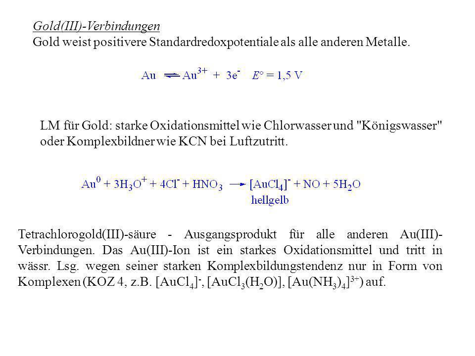Gold(III)-Verbindungen