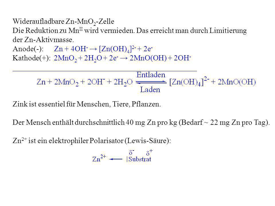 Wideraufladbare Zn-MnO2-Zelle