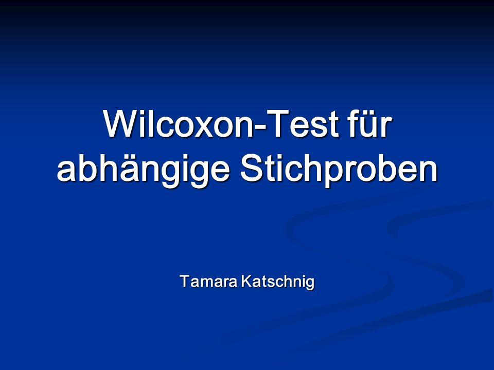 Wilcoxon-Test für abhängige Stichproben