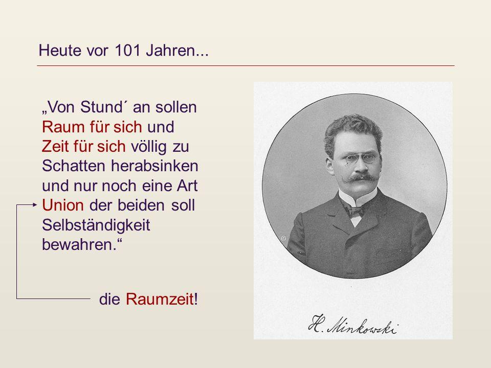 """Heute vor 101 Jahren... """"Von Stund´ an sollen Raum für sich und."""