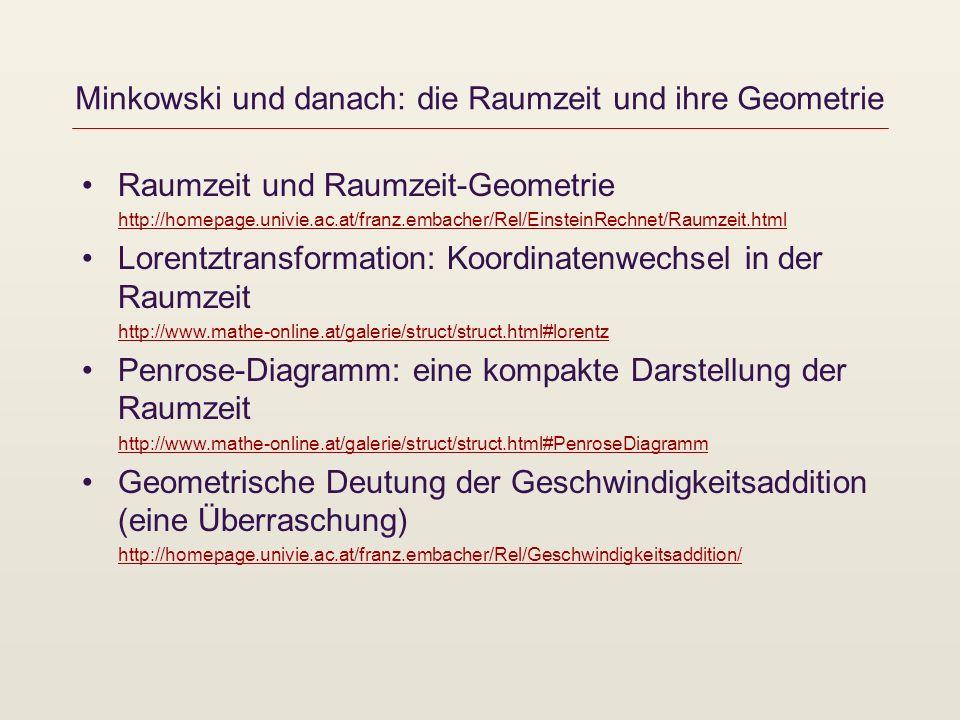 Minkowski und danach: die Raumzeit und ihre Geometrie