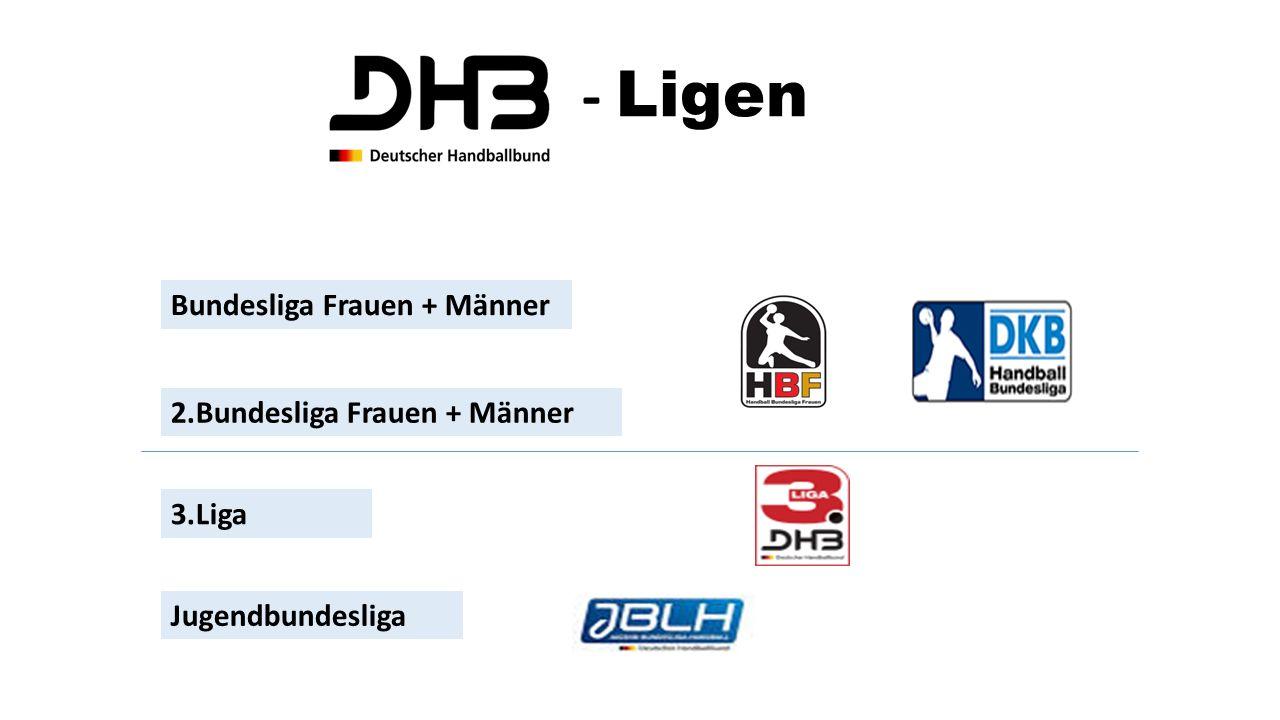 - Ligen Bundesliga Frauen + Männer 2.Bundesliga Frauen + Männer 3.Liga