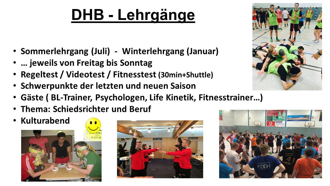 DHB - Lehrgänge Sommerlehrgang (Juli) - Winterlehrgang (Januar)