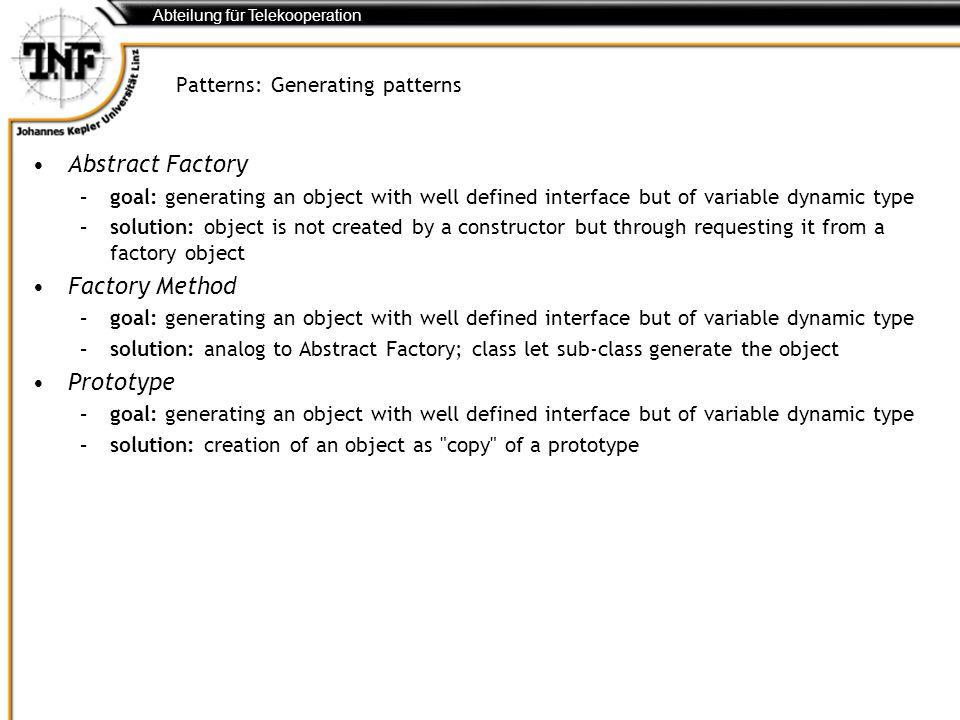 Patterns: Generating patterns