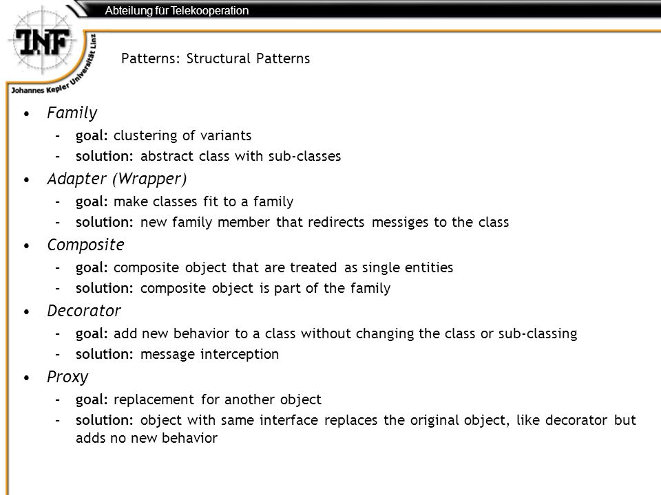 Patterns: Structural Patterns