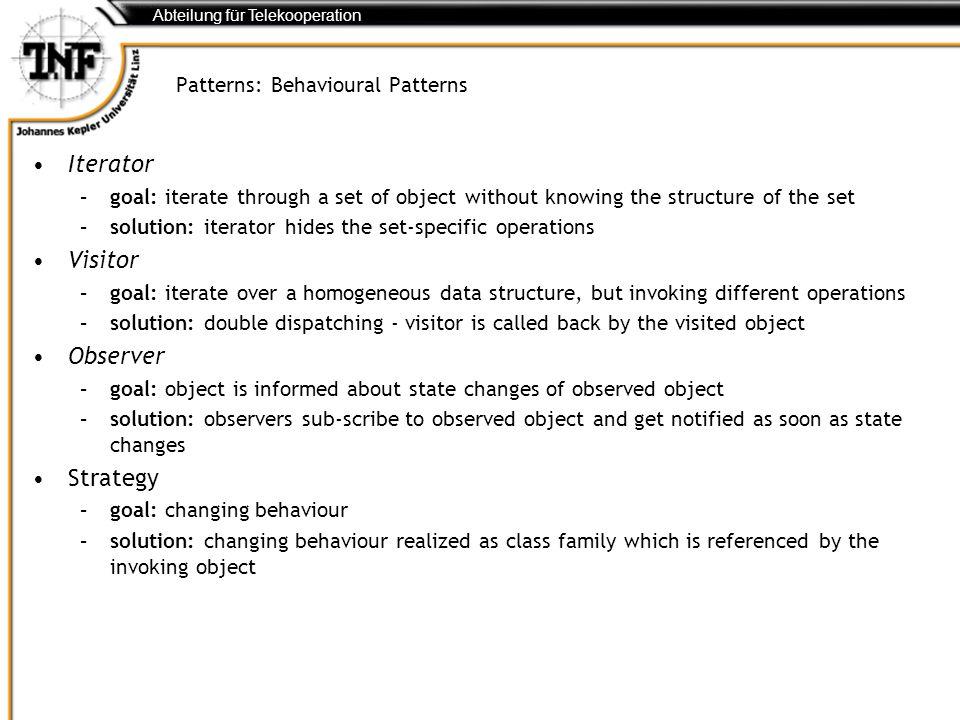 Patterns: Behavioural Patterns