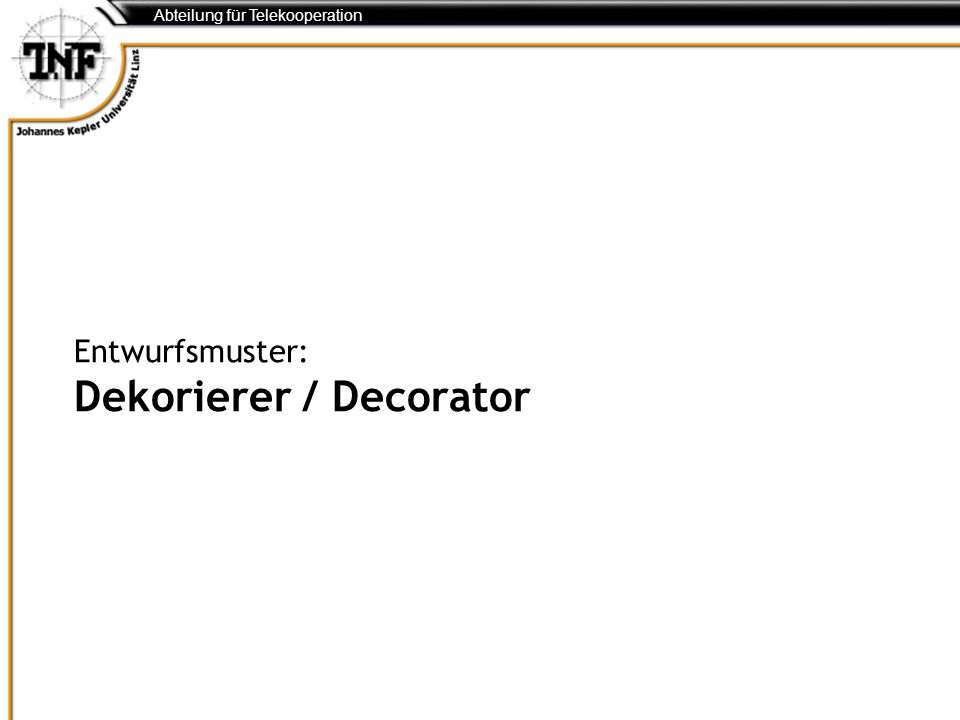 Entwurfsmuster: Dekorierer / Decorator