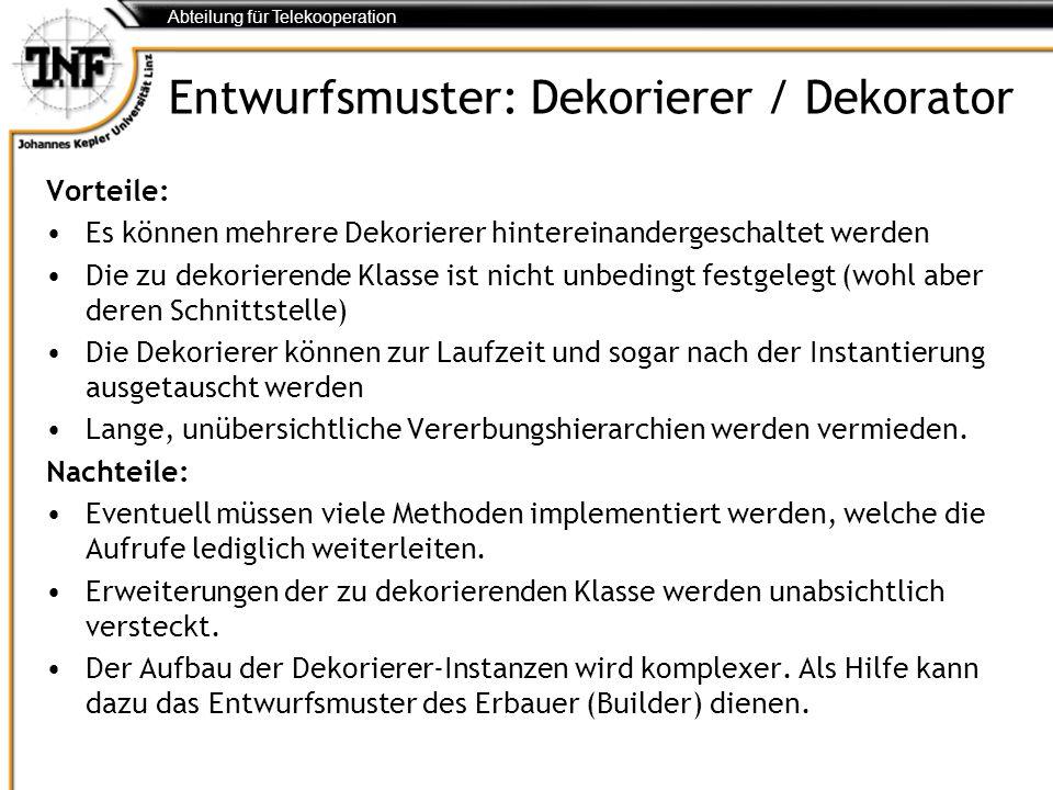 Entwurfsmuster: Dekorierer / Dekorator