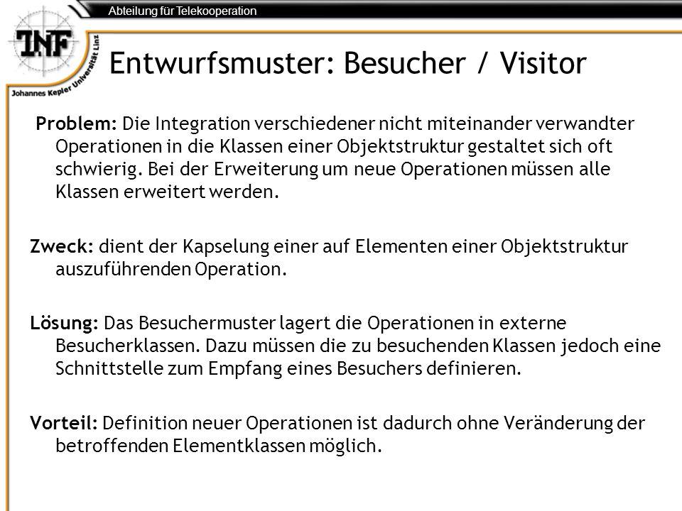 Entwurfsmuster: Besucher / Visitor