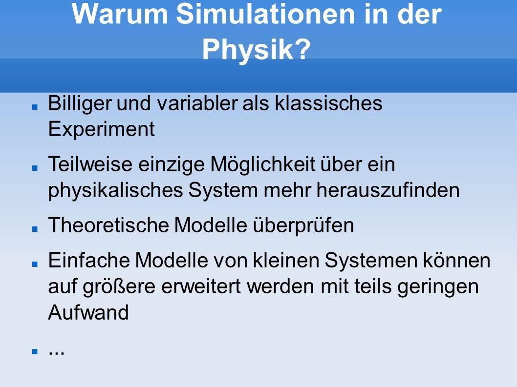 Warum Simulationen in der Physik