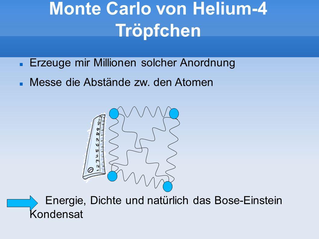 Monte Carlo von Helium-4 Tröpfchen