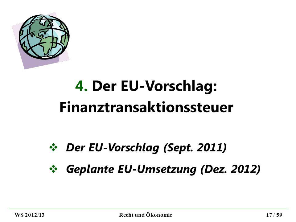 4. Der EU-Vorschlag: Finanztransaktionssteuer