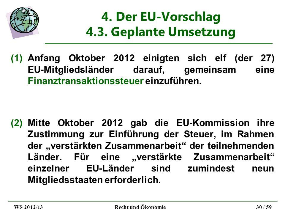 4. Der EU-Vorschlag 4.3. Geplante Umsetzung